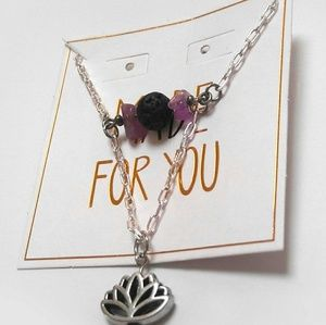 Jewelry - Silver Lotus Oil Diffuser Necklace